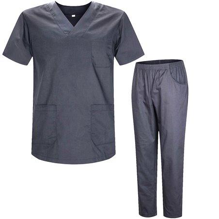 Uniformi Unisex Set Camice – Uniforme Medica con Maglia e Pantaloni Uniformi Mediche Camice Uniformi sanitarie  - Ref.8178