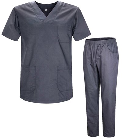 Uniforms Unisex Scrub Set – Medical Uniform with Scrub Top and Pants  - Ref.8178