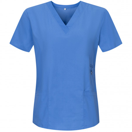 WORK CLOTHES LADY SHORT SLEEVES UNIFORM Medical Uniforms Scrub Top Ref.707