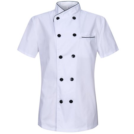 CHEF JACKET WOMEN PROFESSIONAL CHEF JACKETS WOMENS LADY WITH SHORT SLEEVES - Ref.8441